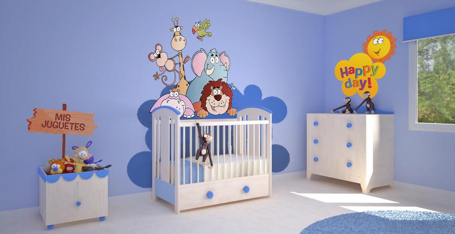 Decoraci n gold decoraci n de una habitaci n de hasta 10 - Decoracion para bebes habitaciones ...